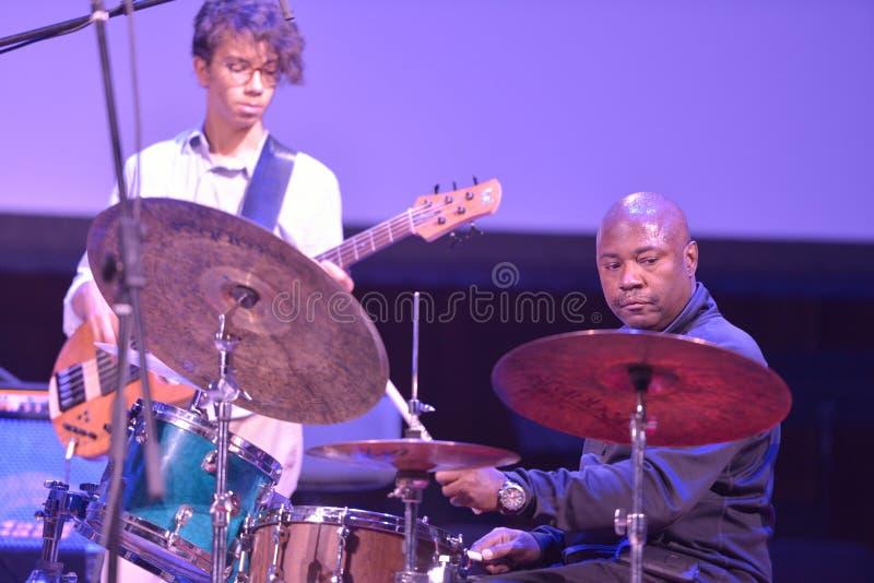 Lenny White durante Sib Jazz Fest imagenes de archivo