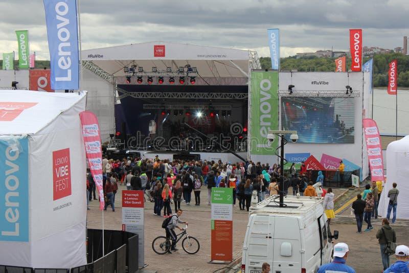 Lenovo klimaty fest: Krańcowy sportów, muzyki i technics festiwal w Novosibirsk, Rosja fotografia royalty free