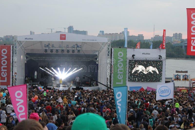 Lenovo klimaty fest: Krańcowy sportów, muzyki i technics festiwal w Novosibirsk, Rosja fotografia stock