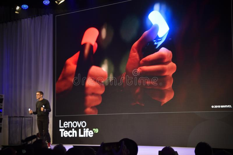 Lenovo TehcLife presentation at IFA 2019 royalty free stock photography