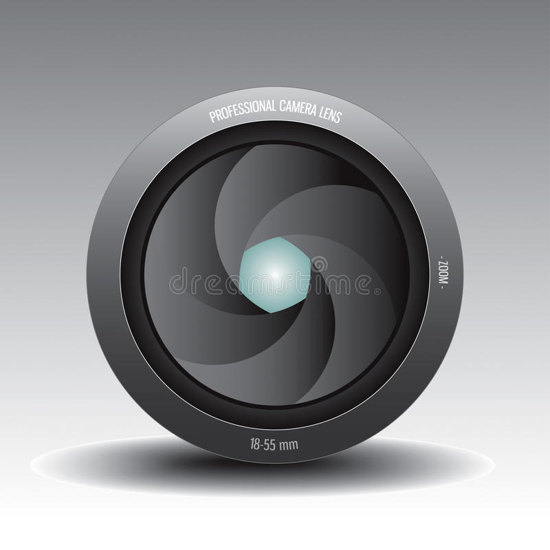 Download Lens 2 stock vector. Image of photo, photographic, lens - 12494843