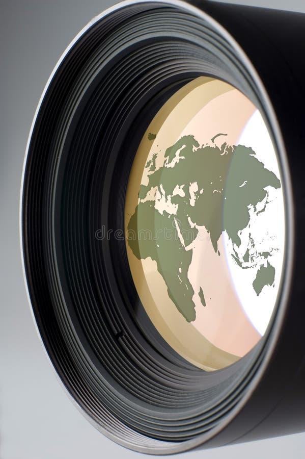 Lens. Medium photo camera lens close up shoot