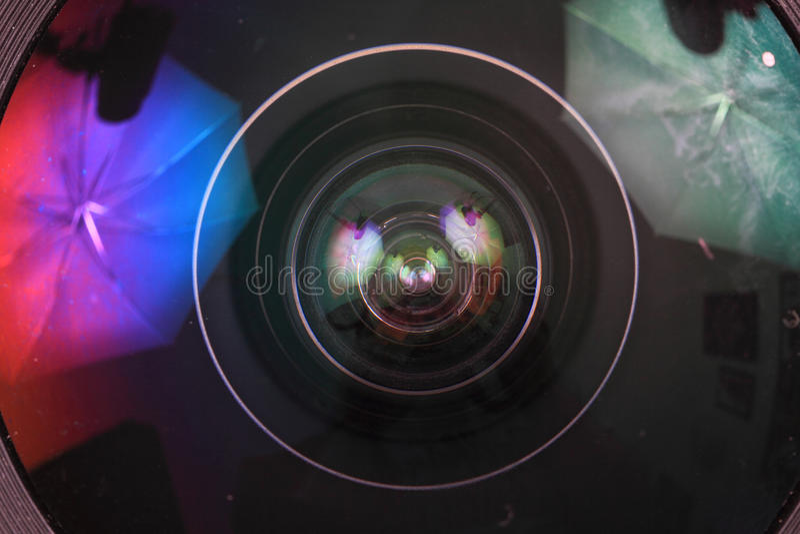 Lens av fotokameran & x28; objective& x29; royaltyfria foton