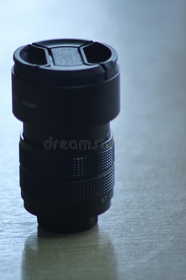lens is on the table stock photography