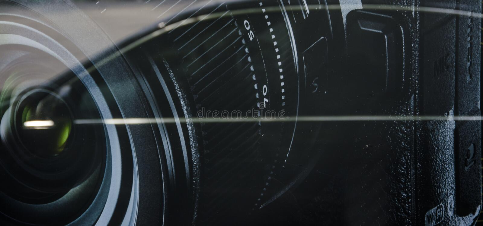 Lens of camera stock images