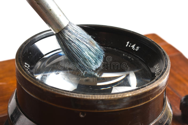 Lens cleaning brush royalty free stock images
