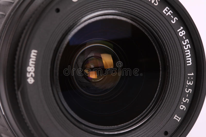 Lens For Digital Camera On White Background Royalty Free Stock Photo