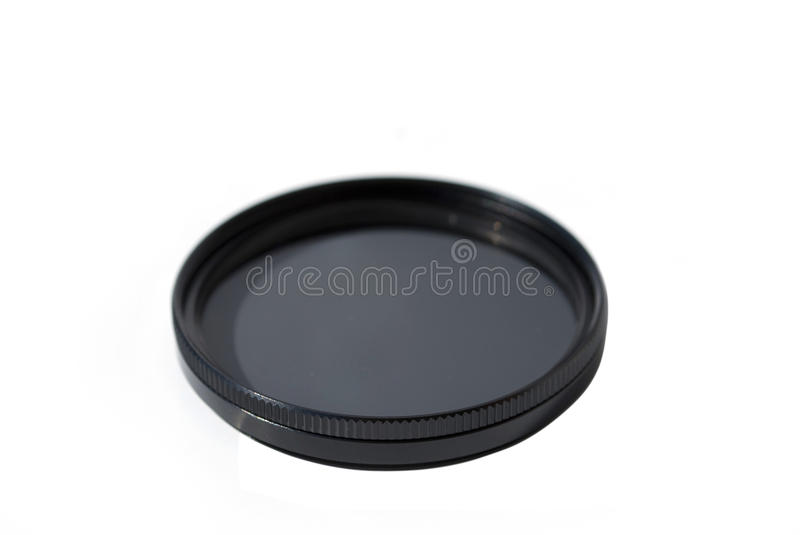 Lens filter. Camera lens filter isolated on white background royalty free stock image