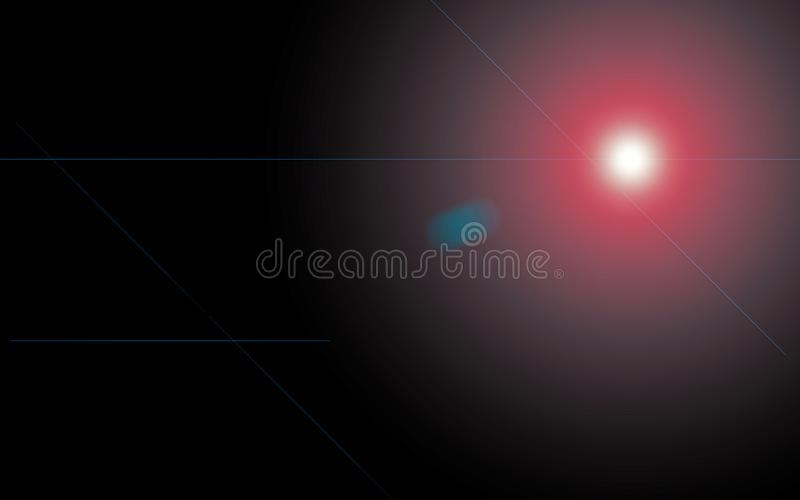 Lens flare on a black background royalty free stock photos