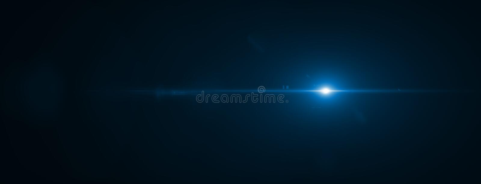 Lens flare effect. 3D rendering royalty free stock image
