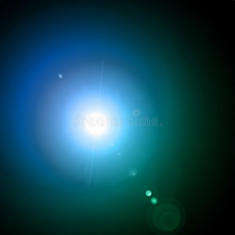 Lens Flare Effect. Vector Background Stock Photos