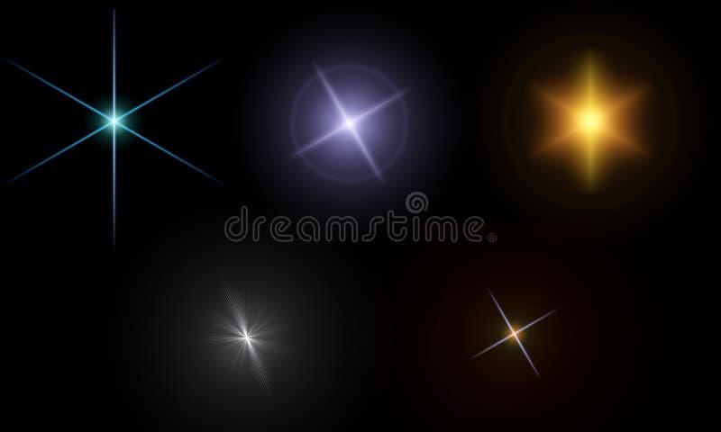 Lens flare - illumination. Set of illumination for registration of creative objects