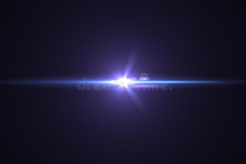Lens flare light on back background stock photos