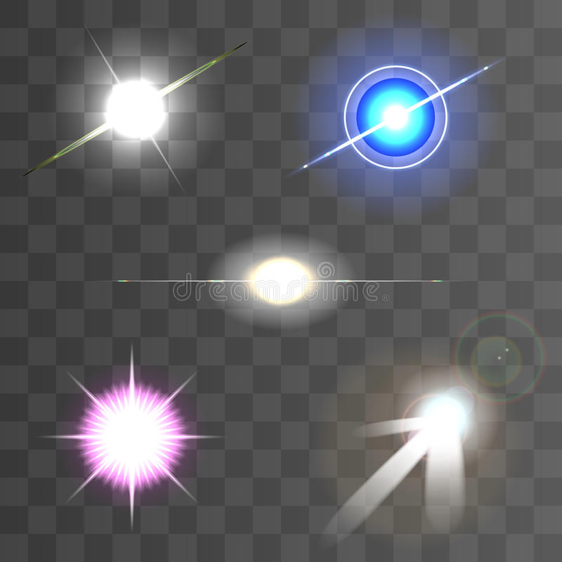 Lens flares star lights vector illustration vector illustration