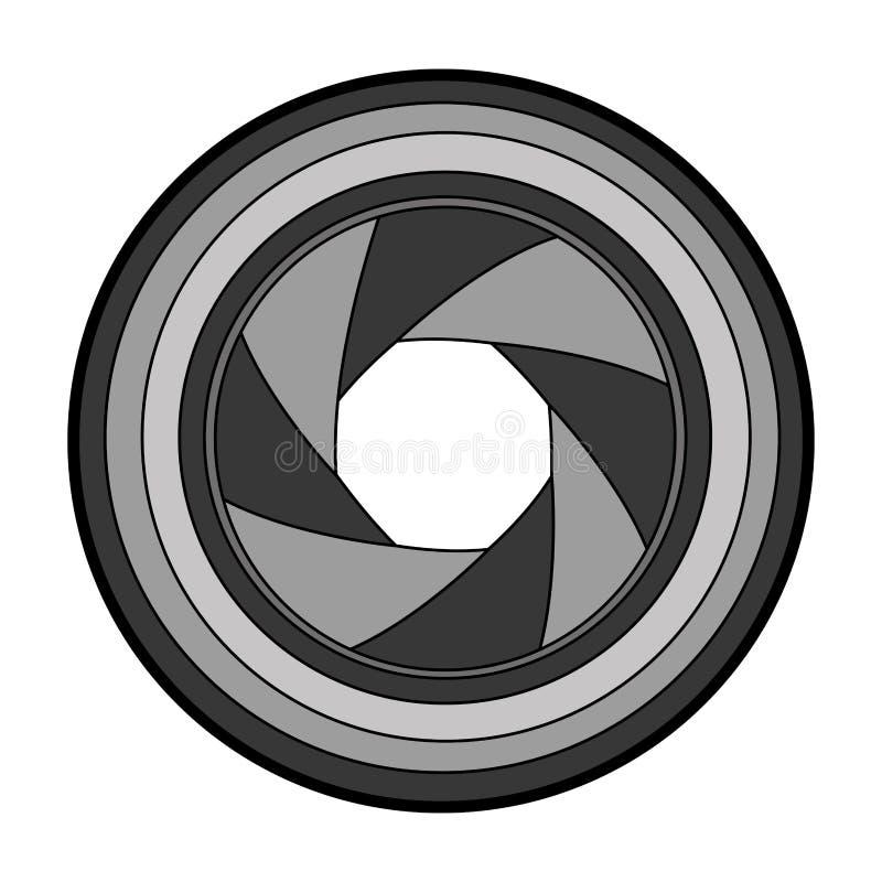 Lens fotografisch geïsoleerd pictogram vector illustratie