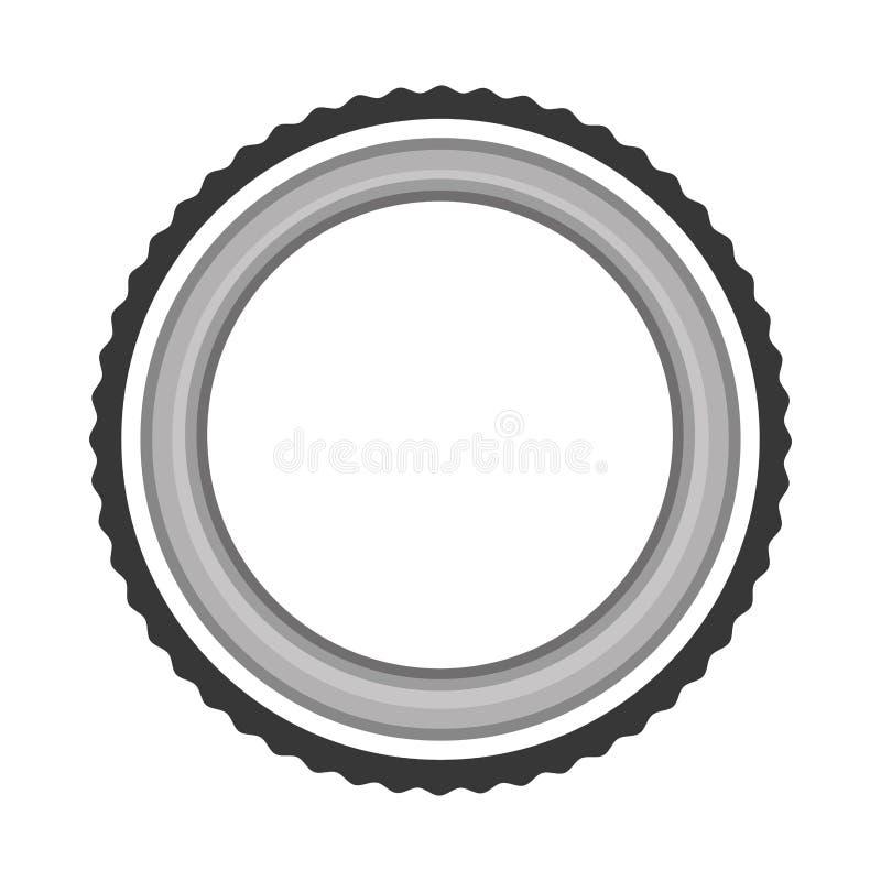 Lens fotografisch geïsoleerd pictogram stock illustratie