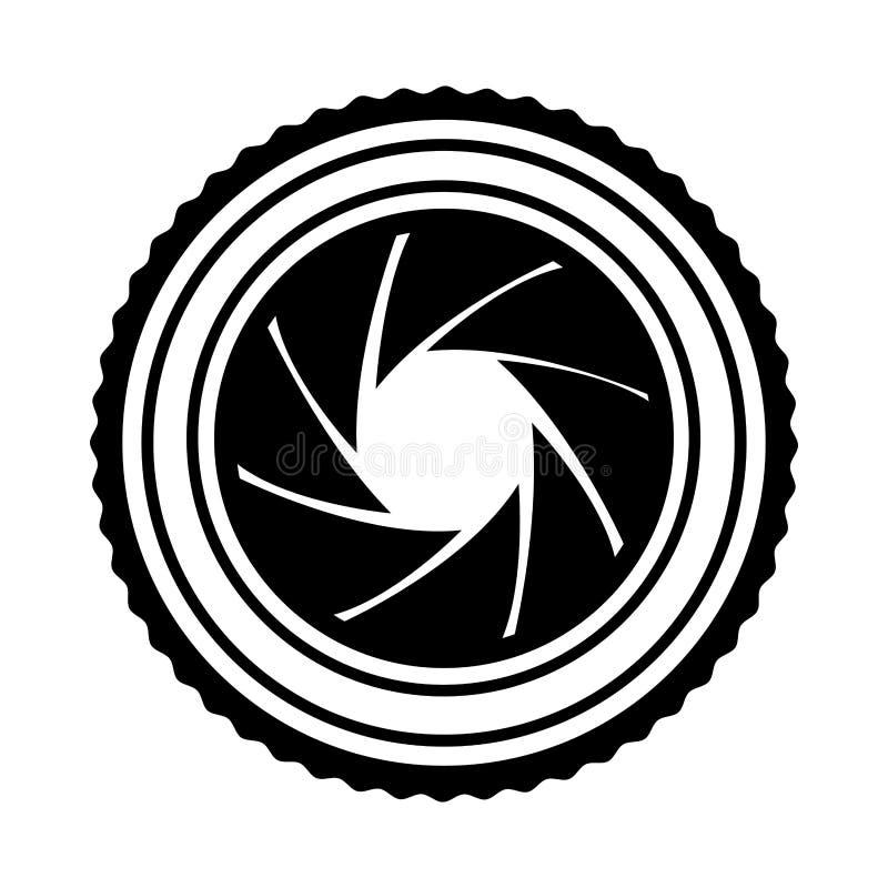 Lens fotografisch geïsoleerd pictogram royalty-vrije illustratie
