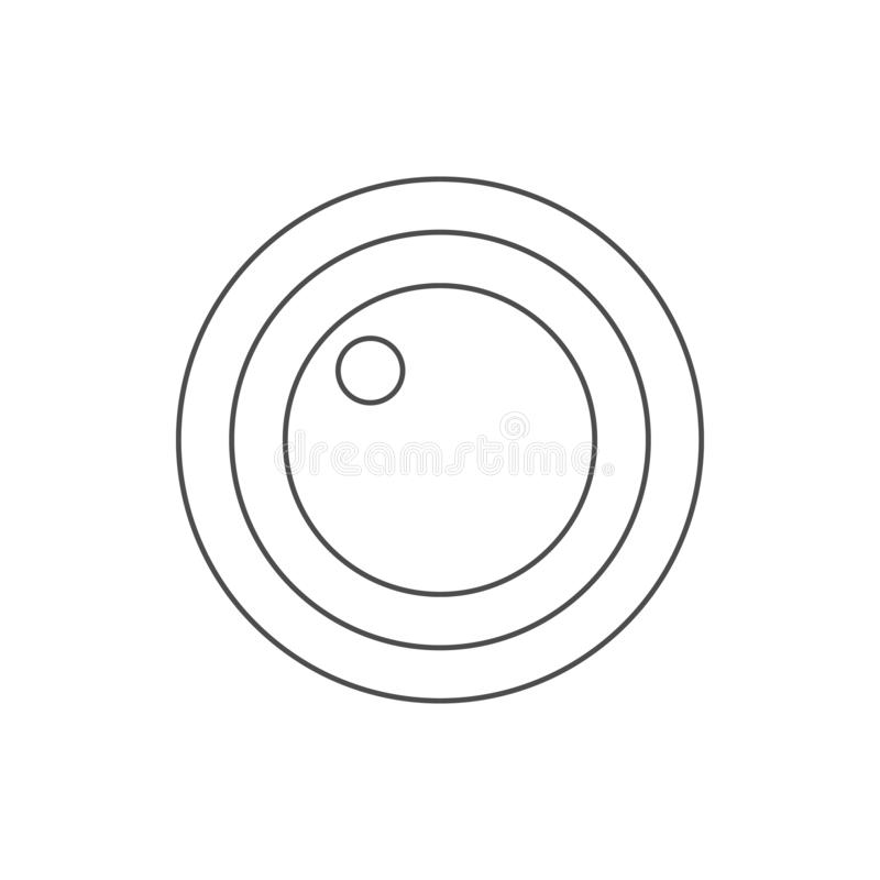 lens icon. Element of web for mobile concept and web apps icon. Thin line icon for website design and development, app development royalty free illustration