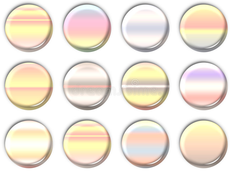 Lens icons stock photography