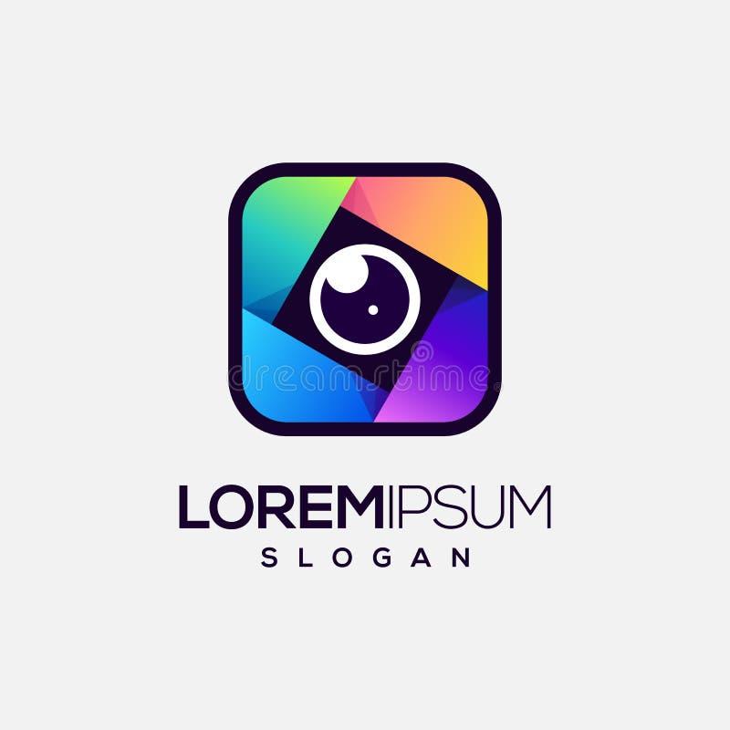 Lens logodesign, vektor, illustration vektor illustrationer