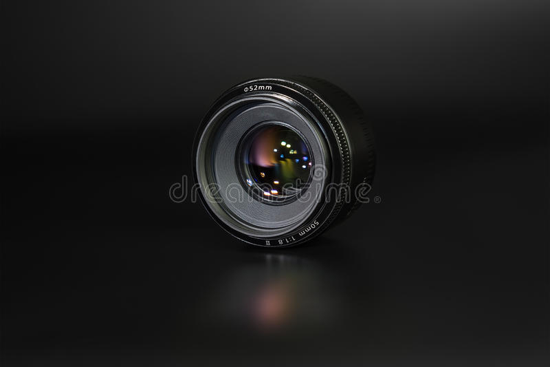 Lens 50mm/1 8 stock fotografie
