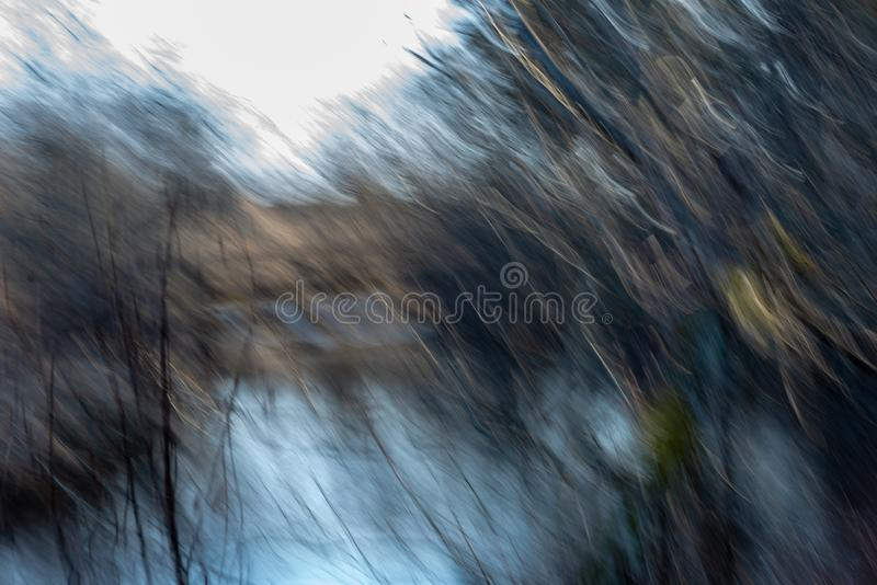 Lens motion blur natural in nature background. Autumn colors abstract stock photos
