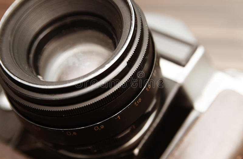 Lens old camera royalty free stock photo