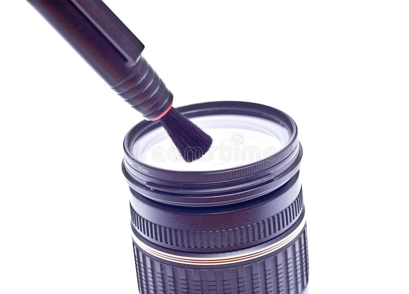 The Lens and pen royalty free stock image