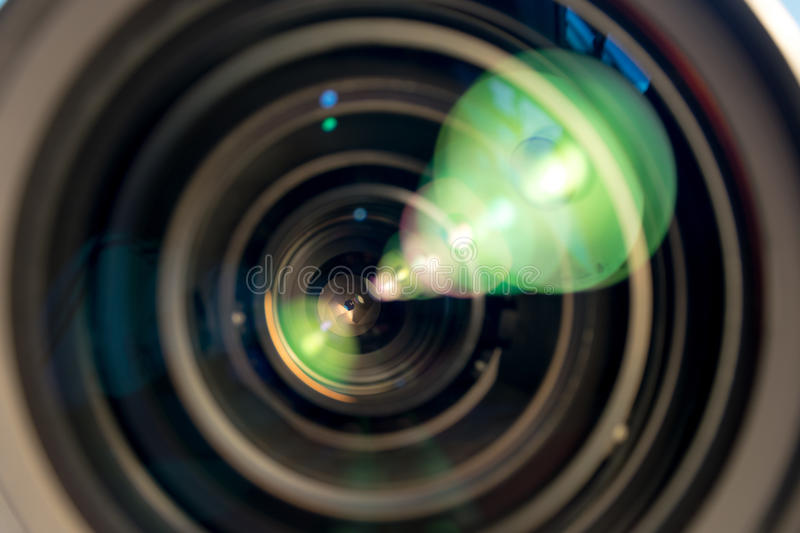 Lens of the photo objective. royalty free stock image