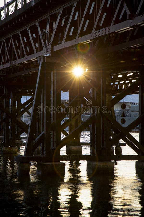 Lens signalljus royaltyfria bilder