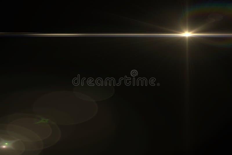 Lens signalljuseffekt vektor illustrationer