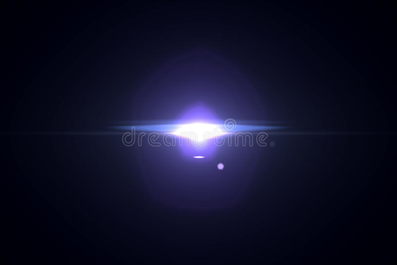 Lens signalljuseffekt royaltyfri illustrationer