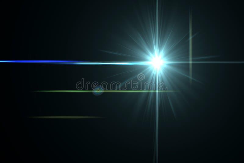 Lens signalljuseffekt stock illustrationer