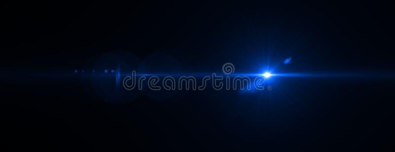 Lens signalljuseffekt framförande 3d royaltyfri illustrationer
