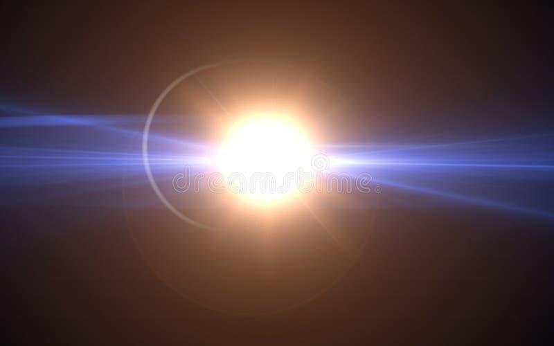Lens signalljusljus över bakgrund royaltyfri illustrationer