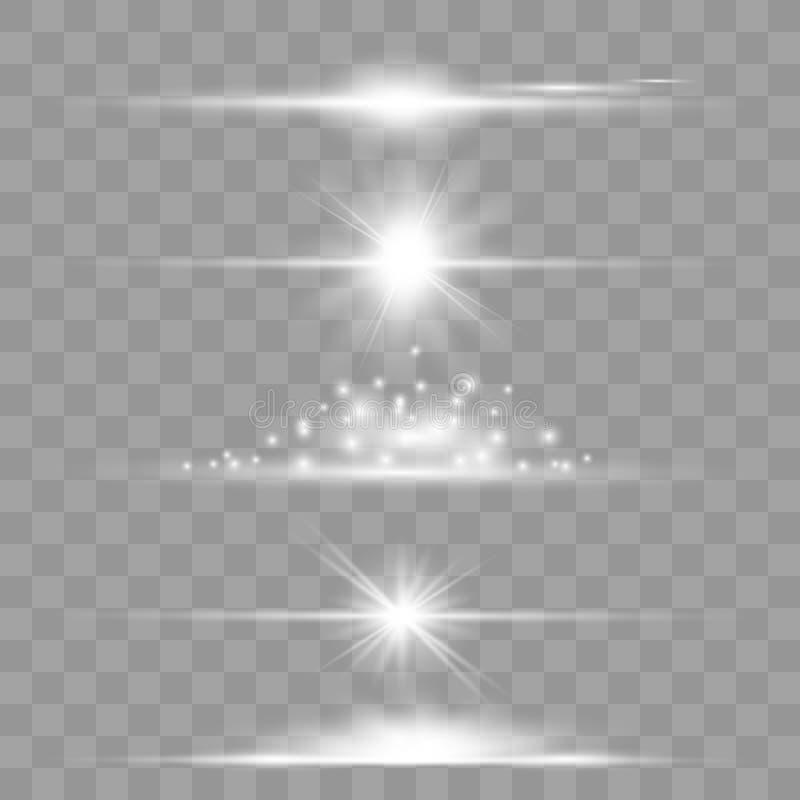 Lens signalljusupps?ttning royaltyfri illustrationer