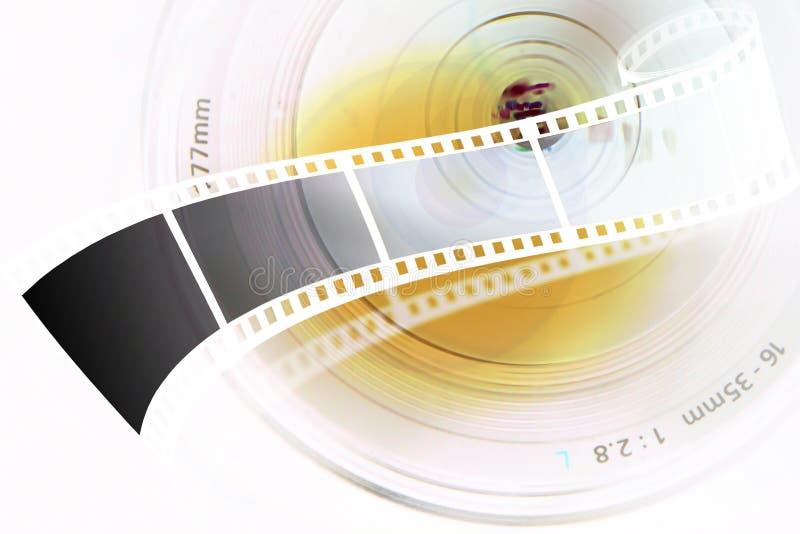 Lens strip. Lens and film