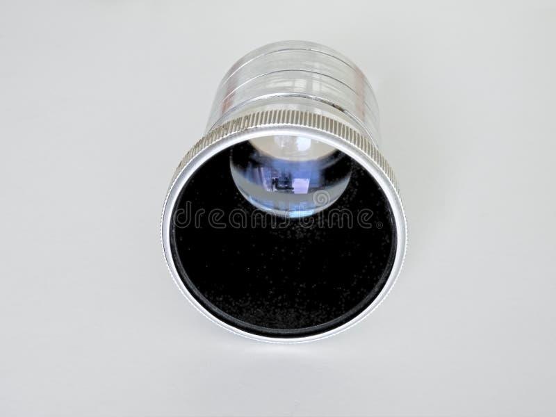 Lens van een oude diaprojector royalty-vrije stock foto