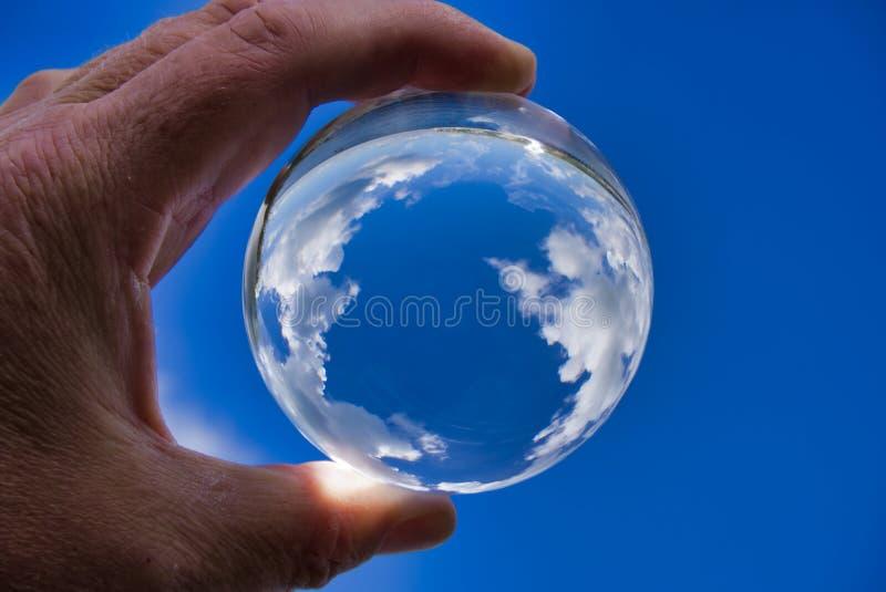 Lensball с облаками стоковая фотография rf