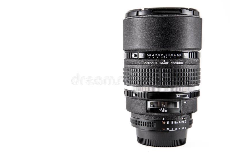 Lense professionnel d'appareil-photo photographie stock libre de droits