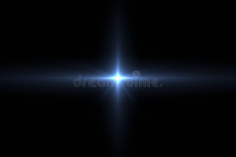 Lensgloed die in zwarte wordt geïsoleerd stock illustratie