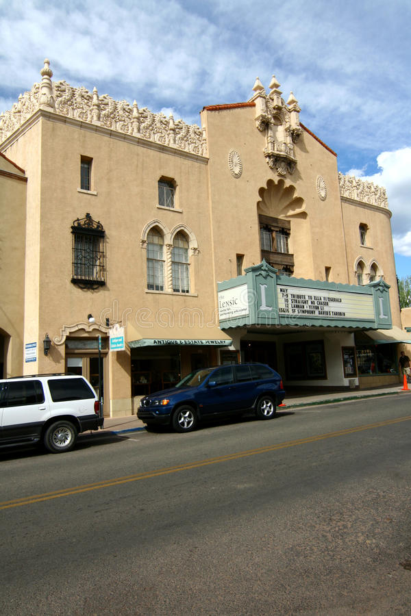 Lensic Theater - Santa Fe stockbild