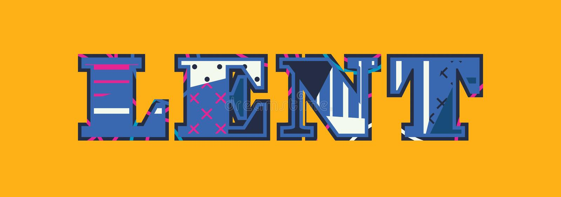 Lent Concept Word Art Illustration vector illustratie