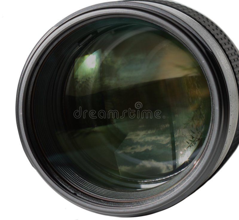 Lente fotografia de stock