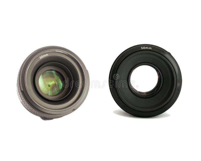 Lente da foto da câmera isolada imagem de stock