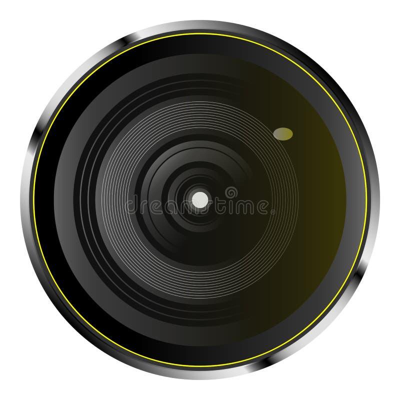 Lente de cámara óptica realista stock de ilustración