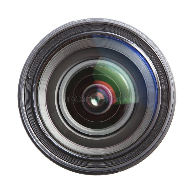Lente de cámara aislada sobre blanco foto de archivo libre de regalías