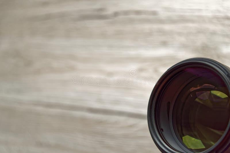 Lente de cámara alineada para arriba hacia observador foto de archivo libre de regalías