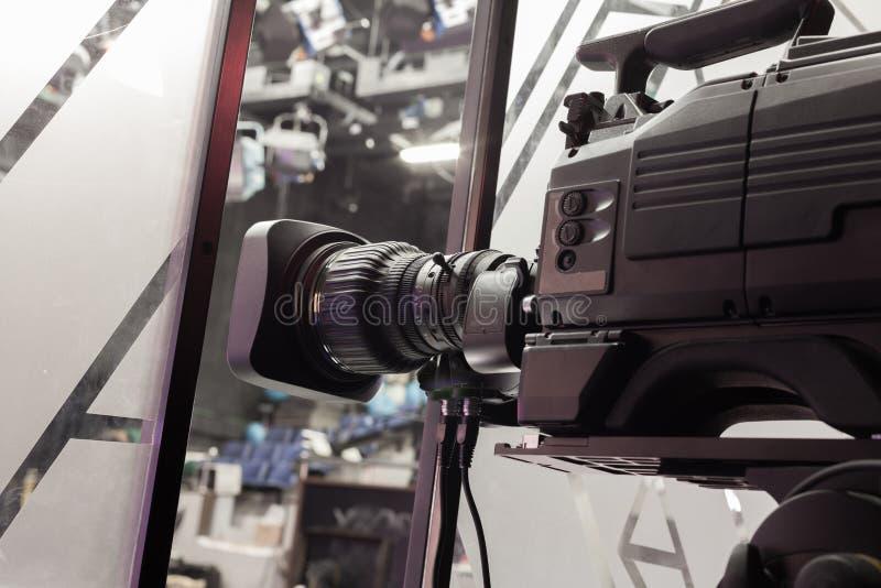 Lente de cámara del estudio de la televisión foto de archivo libre de regalías