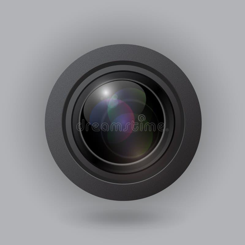 Lente de cámara del vector libre illustration